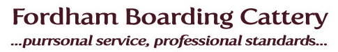 Logo for Fordham Boarding Cattery
